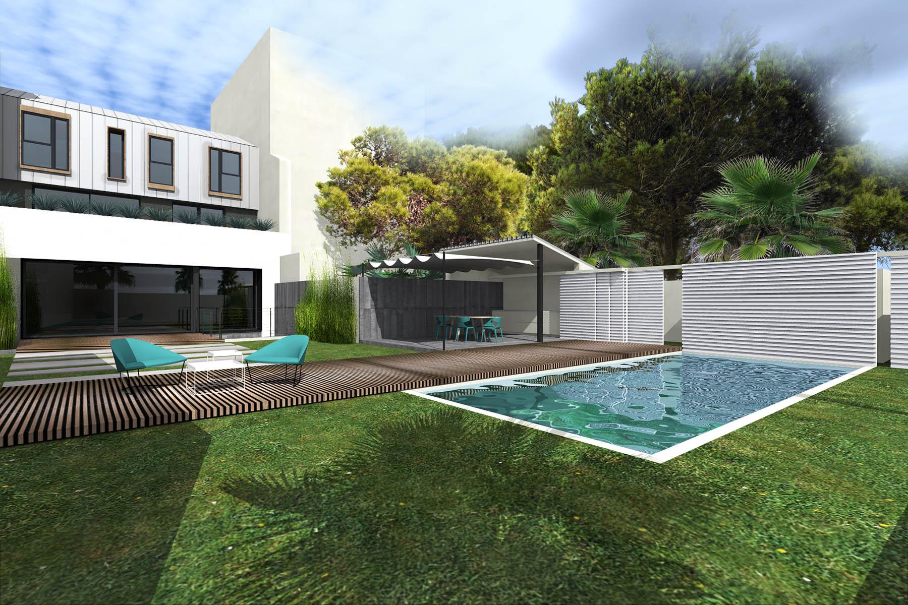 maison de ville jet marseille fr togu architecture. Black Bedroom Furniture Sets. Home Design Ideas